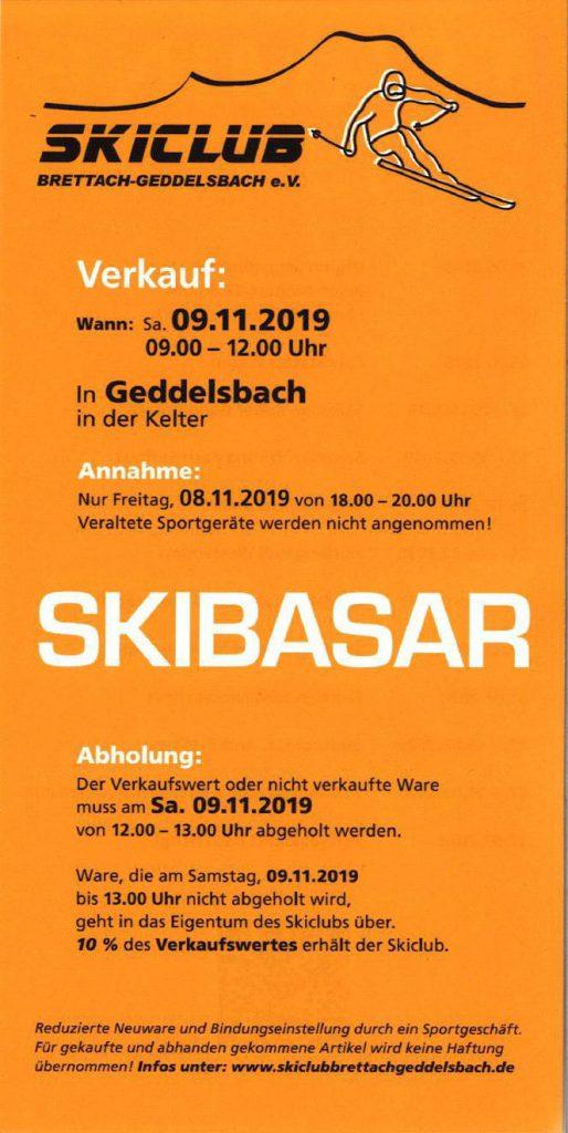 Skibasar @ Skiclub Brettach-Geddelsbach