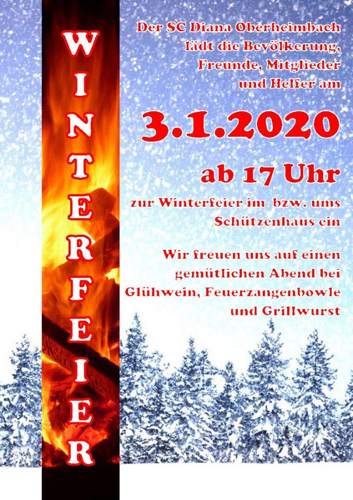 Winterfeier @ SC Diana Oberheimbach